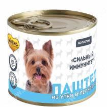 Консервы Мнямс для собак Сильный иммунитет (паштет из утки и перепела), 200 г