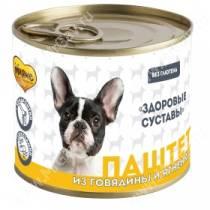 Консервы Мнямс для собак Здоровые суставы (паштет из говядины и ягненка), 200 г