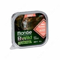Консервы Monge Cat Bwild Grain Free для взрослых кошек (Лосось), 100 г