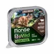 Консервы Monge Cat Bwild Grain Free для взрослых кошек крупных пород (Буйвол)
