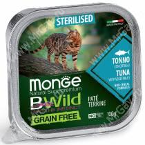 Консервы Monge Cat Bwild Grain Free для взрослых стерилизованных кошек (Тунец)