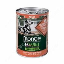 Консервы Monge Dog All Breeds Bwild Grain Free из индейки с тыквой и кабачками, 400 г