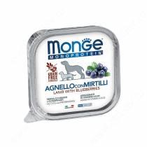 Консервы Monge Dog Monoprotein Fruits (Паштет из ягненка с черникой), 150 г
