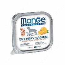 Консервы Monge Dog Monoprotein Fruits (Паштет из индейки с цитрусовыми), 150 г
