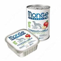Консервы Monge Dog Monoprotein Fruits (Паштет из кролика с яблоком), 150 г