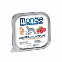 Консервы Monge Dog Monoprotein Fruits (Паштет из утки с малиной), 150 г