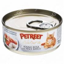 Консервы Petreet кусочки розового тунца с рыбой дорада, 70 г