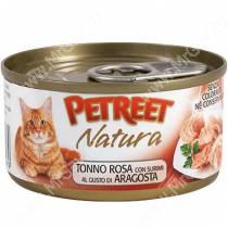Консервы Petreet кусочки розового тунца с лобстером, 70 г