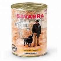 Консервы Savarra Dog Adult, индейка и рис, 395 г