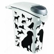 Контейнер Curver для корма собак, 10 кг, черно-белый