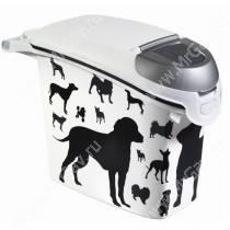 Контейнер Curver для корма собак, 6 кг, черно-белый