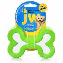 Косточка JW Good Breath Rubber Dog Bone из каучука с ароматом мяты, средняя, зеленая