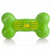 Косточка JW iSqueak Bone из каучука, большая, зеленая