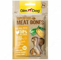 Лакомство для собак Gimdog, мясные косточки из курицы с бананом и сельдереем , 70 г