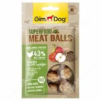 Лакомство для собак Gimdog, мясные шарики из курицы с яблоком и киноа, 70 г