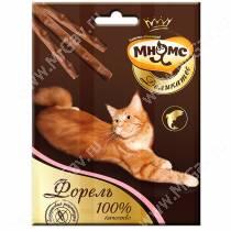 Лакомство Мнямс Деликатес палочки для кошек с форелью, 3 шт.