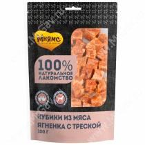 Лакомство Мнямс для собак кубики из мяса ягненка с треской, 100 г