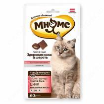 Лакомство Мнямс Pro Pet хрустящие подушечки для кошек с птицей и говядиной: здоровая кожа и шерсть, 60 г