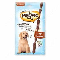 Лакомство Мнямс Pro Pet мягкие колбаски для щенков с говядиной