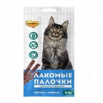 Лакомство Мнямс Pro Pet палочки для кошек с форелью и лососем, 13,5 см, 3 шт.