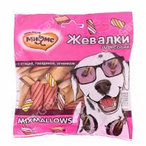 Лакомство Мнямс Жевалки для собак Mixmallows с птицей, говядиной и ягненком