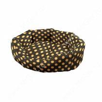 Лежак Ferplast Domino, 44 см*40 см*16 см, горох на черном