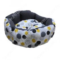 Лежак Ferplast Domino, 44 см*40 см*16 см, желтые серые пятна