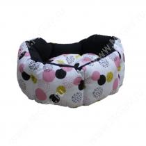 Лежак Ferplast Domino, 44 см*40 см*16 см, желтые розовые пятна