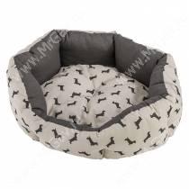 Лежак Ferplast Domino, 50 см*40 см*18 см, светлый с собачками