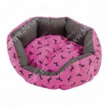 Лежак Ferplast Domino, 50 см*40 см*18 см, розовый с собачками
