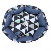 Лежак Ferplast Domino, 50 см*40 см*18 см, треугольники с серым