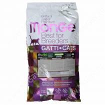 Monge Cat Bwild Grain Free для крупных кошек всех возрастов (Буйвол), 10 кг