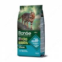 Monge Cat Bwild Grain Free для взрослых стерилизованных кошек (Тунец), 1,5 кг