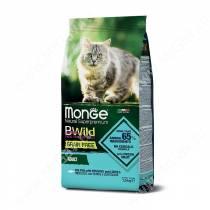 Monge Cat Bwild Grain Free для взрослых кошек (Треска), 1,5 кг
