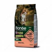 Monge Cat Bwild Grain Free для взрослых кошек (Лосось), 1,5 кг