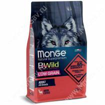 Monge Dog All Breeds Bwild Low Grain Wild Deer (Оленина), 2,5 кг