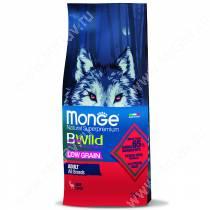 Monge Dog All Breeds Bwild Low Grain Wild Deer (Оленина), 12 кг