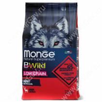 Monge Dog All Breeds Bwild Low Grain Wild Deer (Оленина)