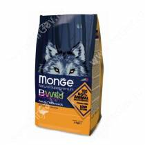 Monge Dog All Breeds Bwild Ostrich (Страус), 7,5 кг