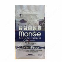 Monge Dog All Breeds Grain Free (Анчоусы с картофелем и горохом), 12 кг