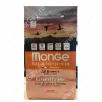 Monge Dog All Breeds Grain Free (Утка с картофелем), 12 кг