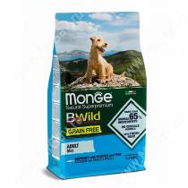 Monge Dog Mini Adult Bwild Grain Free (Анчоус), 2,5 кг