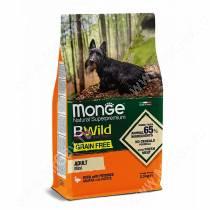 Monge Dog Mini Adult Bwild Grain Free (Утка), 2,5 кг