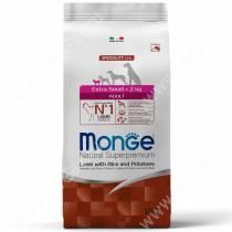 Monge Dog Speciality Extra Small Adult (Ягненок с рисом и картофелем)