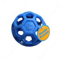 Мяч сетчатый Hol-ee Roller Dog Toys из каучука, малый, синий