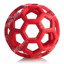 Мяч сетчатый Hol-ee Roller Dog Toys из каучука, очень большой, красный