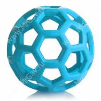 Мяч сетчатый Hol-ee Roller Dog Toys из каучука, очень большой, голубой