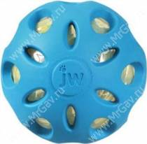 Мяч сетчатый хрустящий JW Crackle&Crunch Ball, большой, голубой