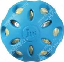 Мяч сетчатый хрустящий JW Crackle&Crunch Ball, малый, голубой