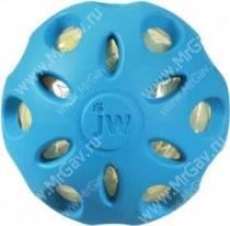 Мяч сетчатый хрустящий JW Crackle&Crunch Ball, средний, голубой